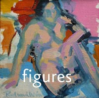 figure, nude, lady in pink and blue